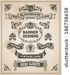 vintage retro hand drawn banner ... | Shutterstock .eps vector #188758658