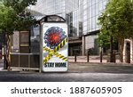 outdoor showcase billboard... | Shutterstock . vector #1887605905