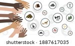 vector illustration of natural...   Shutterstock .eps vector #1887617035