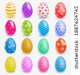 Mulsticolored Easter Eggs With...