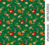 spring floral seamless pattern... | Shutterstock .eps vector #1887632002