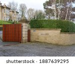 Stone Wall With Hillcrest Name...