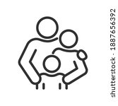 family  parents and child ...   Shutterstock .eps vector #1887656392
