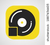 music album playlist icon app...