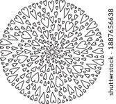 Mandala Round Valentine Lace...