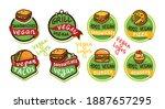 vegan fast food logo icon...   Shutterstock .eps vector #1887657295