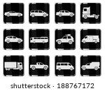 vehicles icon set | Shutterstock .eps vector #188767172