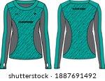 women long sleeve sports t... | Shutterstock .eps vector #1887691492