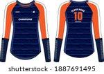 women long sleeve sports t... | Shutterstock .eps vector #1887691495