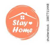 stay home  stay safe  ... | Shutterstock .eps vector #1887711448