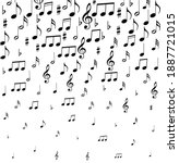 music notes. vector... | Shutterstock .eps vector #1887721015