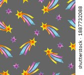 cute childish pattern with... | Shutterstock . vector #1887732088