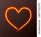 heart shaped bright yellow and...   Shutterstock . vector #1887732295