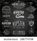 hipster style vintage elements... | Shutterstock .eps vector #188774708