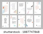 set of abstract art templates.... | Shutterstock .eps vector #1887747868