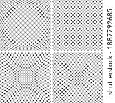set of 3d net patterns.... | Shutterstock .eps vector #1887792685