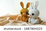 handmade crochet rabbit toy... | Shutterstock . vector #1887804325
