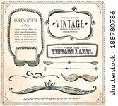 vintage frames and design... | Shutterstock .eps vector #188780786