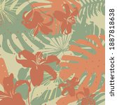 colorful seamless floral... | Shutterstock .eps vector #1887818638
