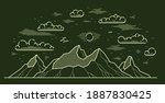 mountains range linear vector... | Shutterstock .eps vector #1887830425