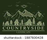 rural village in mountain range ... | Shutterstock .eps vector #1887830428