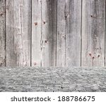 wooden fence rough background... | Shutterstock . vector #188786675