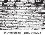 vector texture brick wall... | Shutterstock .eps vector #1887895225