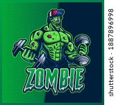 zombie gym esport and sport...   Shutterstock .eps vector #1887896998