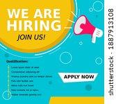 job vacancy templates. we are...   Shutterstock .eps vector #1887913108