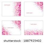 magenta  pink color hexagon...   Shutterstock .eps vector #1887925402