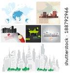 set of cityscape backgrounds    Shutterstock .eps vector #188792966