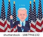 caricature joe biden in...   Shutterstock .eps vector #1887946132