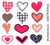 set of hearts for valentine's... | Shutterstock .eps vector #1887950962