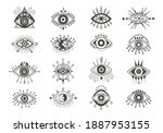 mystical eyes symbols set....   Shutterstock .eps vector #1887953155
