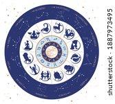 modern magic witchcraft...   Shutterstock .eps vector #1887973495