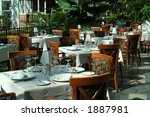restaurant setting for a... | Shutterstock . vector #1887981