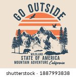 vector camping illustration and ...   Shutterstock .eps vector #1887993838