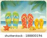 vector summer background with... | Shutterstock .eps vector #188800196