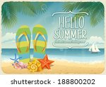 vector summer background with... | Shutterstock .eps vector #188800202
