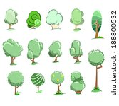 tree icon set | Shutterstock .eps vector #188800532