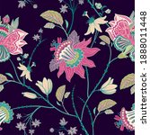 pink stylized flowers on the... | Shutterstock . vector #1888011448