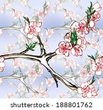seamless pattern with blooming... | Shutterstock . vector #188801762