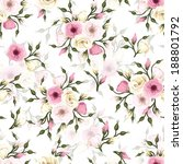 seamless pattern with pink and... | Shutterstock .eps vector #188801792