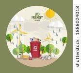 garbage  environmental...   Shutterstock .eps vector #1888024018