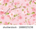 Realistic Pink Sakura Blossom...