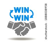 win win words with cycle arrows ... | Shutterstock .eps vector #1888038958