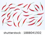 hot chili peppers on white... | Shutterstock . vector #1888041502