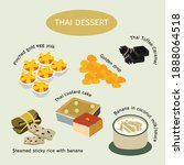 thai dessert food sweet dessert ...   Shutterstock .eps vector #1888064518