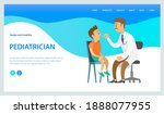 pediatrician looks at the... | Shutterstock .eps vector #1888077955