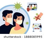 covid 19 pandemic impact the...   Shutterstock .eps vector #1888085995